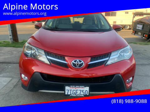2013 Toyota RAV4 for sale at Alpine Motors in Van Nuys CA