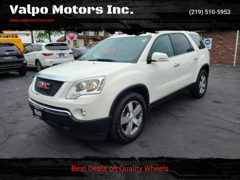 2012 GMC Acadia for sale at Valpo Motors Inc. in Valparaiso IN
