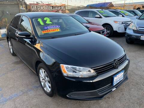 2012 Volkswagen Jetta for sale at CAR GENERATION CENTER, INC. in Los Angeles CA