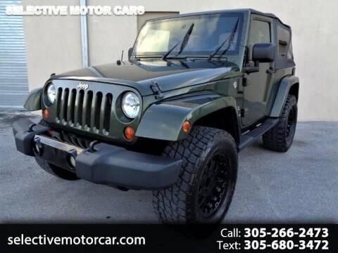 2008 Jeep Wrangler for sale at Selective Motor Cars in Miami FL