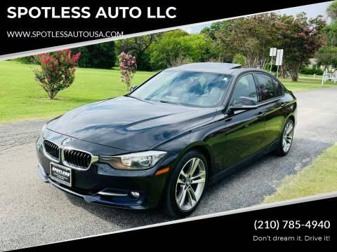 2013 BMW 3 Series for sale at SPOTLESS AUTO LLC in San Antonio TX