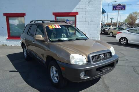 2004 Hyundai Santa Fe for sale at CARGILL U DRIVE USED CARS in Twin Falls ID