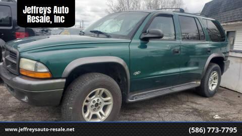 2002 Dodge Durango for sale at Jeffreys Auto Resale, Inc in Clinton Township MI