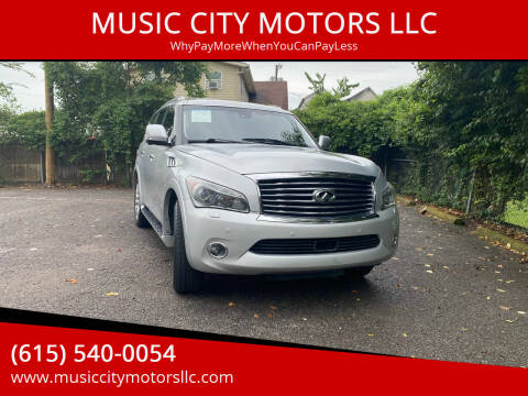 2014 Infiniti QX80 for sale at MUSIC CITY MOTORS LLC in Nashville TN