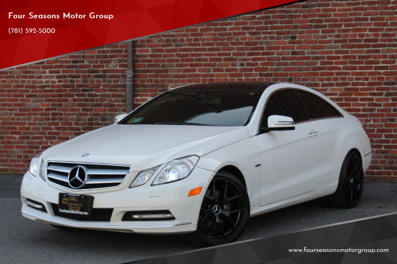 2012 Mercedes-Benz E-Class for sale at Four Seasons Motor Group in Swampscott MA