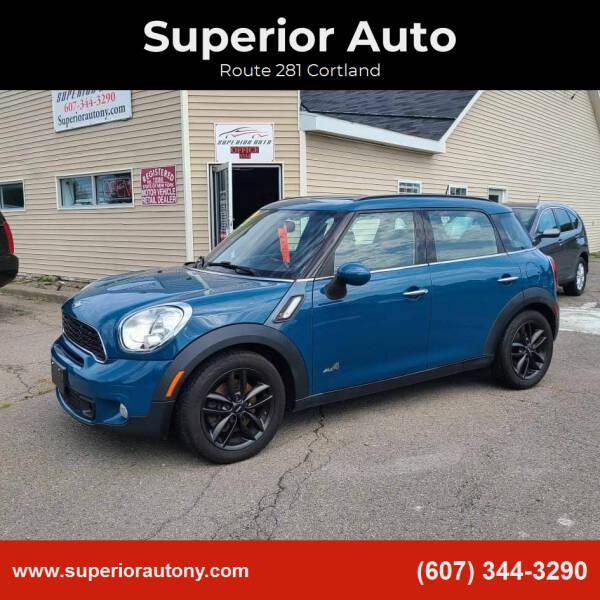 2012 MINI Cooper Countryman for sale at Superior Auto in Cortland NY