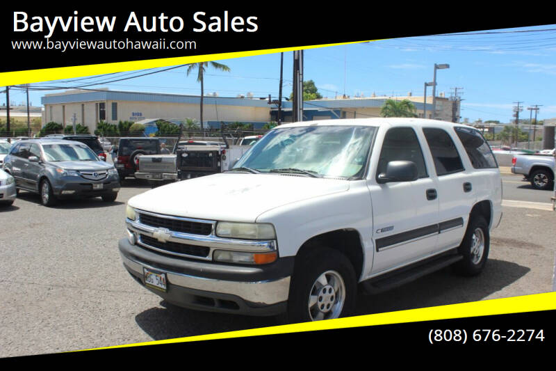 2003 Chevrolet Tahoe for sale at Bayview Auto Sales in Waipahu HI