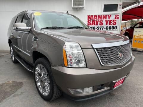 2014 Cadillac Escalade for sale at Manny G Motors in San Antonio TX