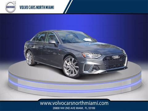 2020 Audi A4 for sale at Volvo Cars North Miami in Miami FL