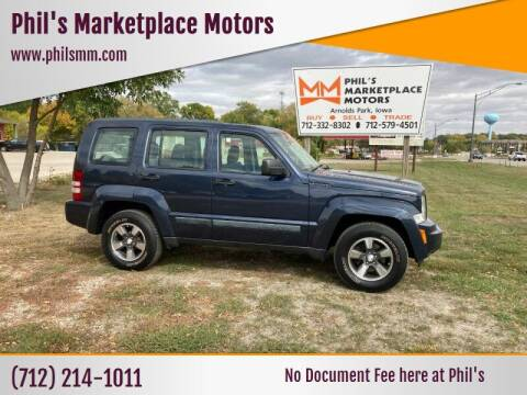 2008 Jeep Liberty for sale at Phil's Marketplace Motors in Arnolds Park IA