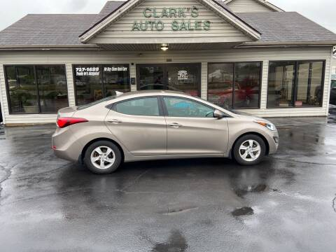 2015 Hyundai Elantra for sale at Clarks Auto Sales in Middletown OH