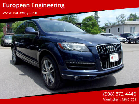 2015 Audi Q7 for sale at European Engineering in Framingham MA