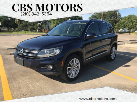 2012 Volkswagen Tiguan for sale at CBS MOTORS in San Antonio TX
