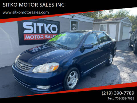 2004 Toyota Corolla for sale at SITKO MOTOR SALES INC in Cedar Lake IN