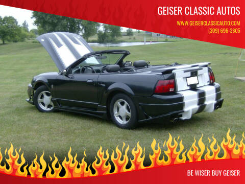 2001 Ford Mustang for sale at Geiser Classic Autos in Roanoke IL