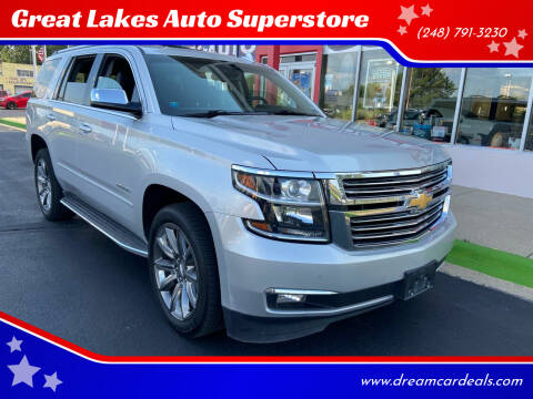 2015 Chevrolet Tahoe for sale at Great Lakes Auto Superstore in Waterford Township MI