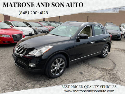 2012 Infiniti EX35 for sale at Matrone and Son Auto in Tallman NY
