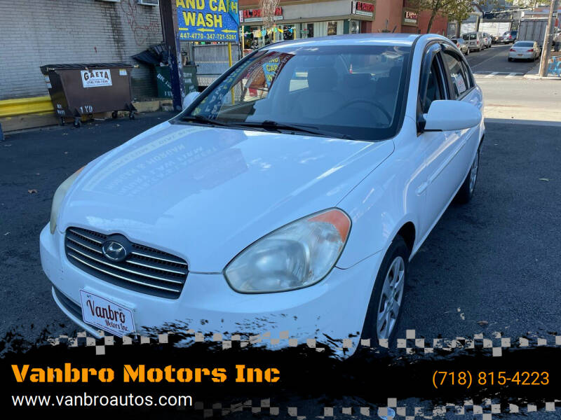 2008 Hyundai Accent for sale at Vanbro Motors Inc in Staten Island NY