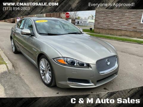 2012 Jaguar XF for sale at C & M Auto Sales in Detroit MI