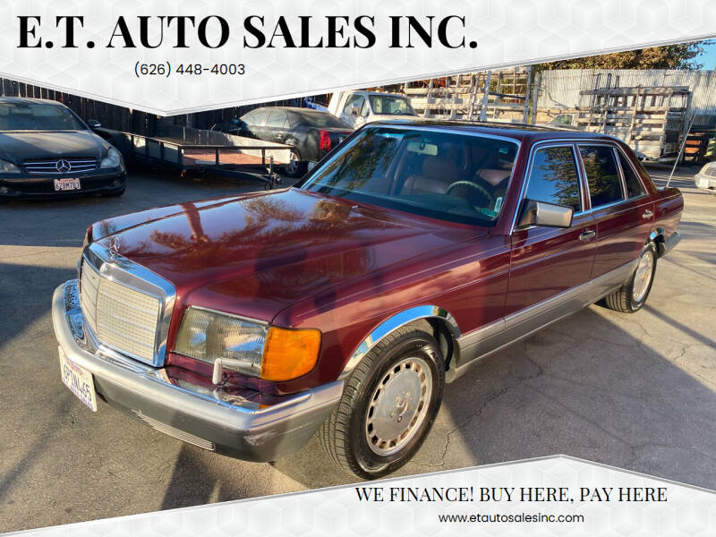 1986 Mercedes-Benz 420-Class for sale at E.T. Auto Sales Inc. in El Monte CA