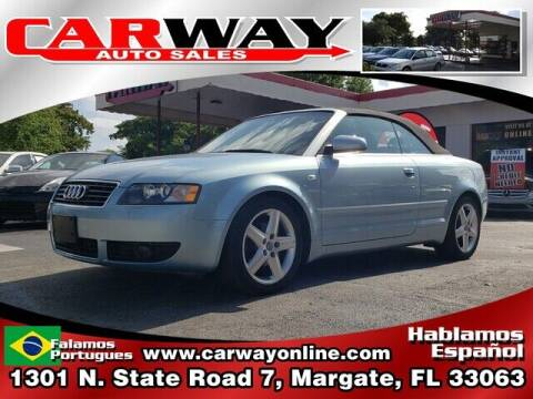 2005 Audi A4 for sale at CARWAY Auto Sales in Margate FL