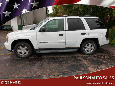 2003 Chevrolet TrailBlazer for sale at Paulson Auto Sales in Chippewa Falls WI