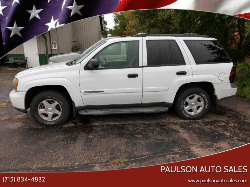 2003 Chevrolet TrailBlazer for sale at Paulson Auto Sales in Chippewa Falls WI