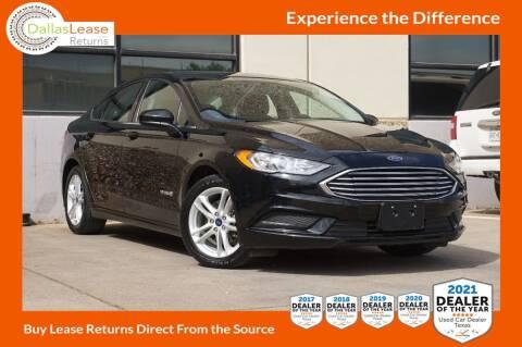 2018 Ford Fusion Hybrid for sale at Dallas Auto Finance in Dallas TX