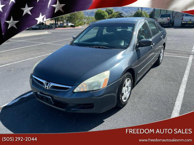 2007 Honda Accord for sale at Freedom Auto Sales in Albuquerque NM