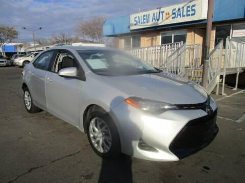 2017 Toyota Corolla for sale at Salem Auto Sales in Sacramento CA