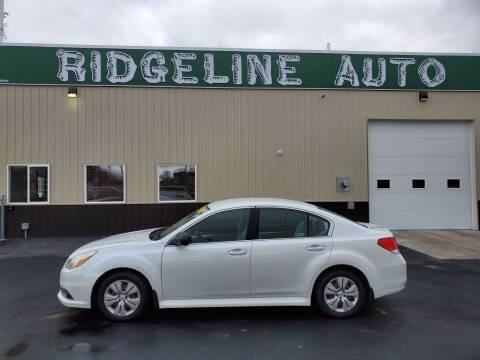 2013 Subaru Legacy for sale at RIDGELINE AUTO in Chubbuck ID
