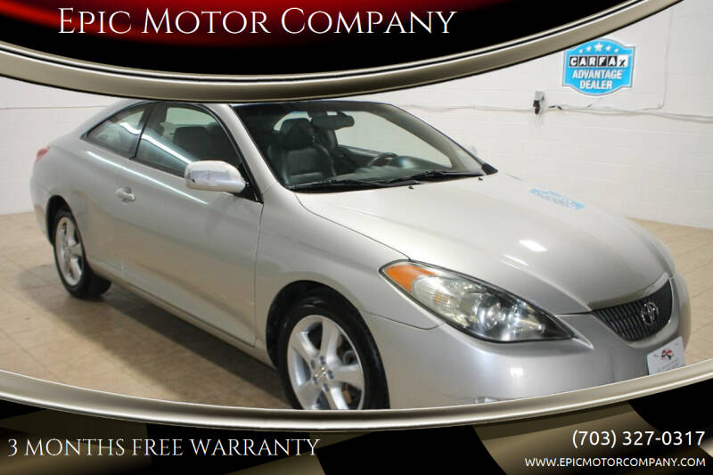 2005 Toyota Camry Solara for sale at Epic Motor Company in Chantilly VA