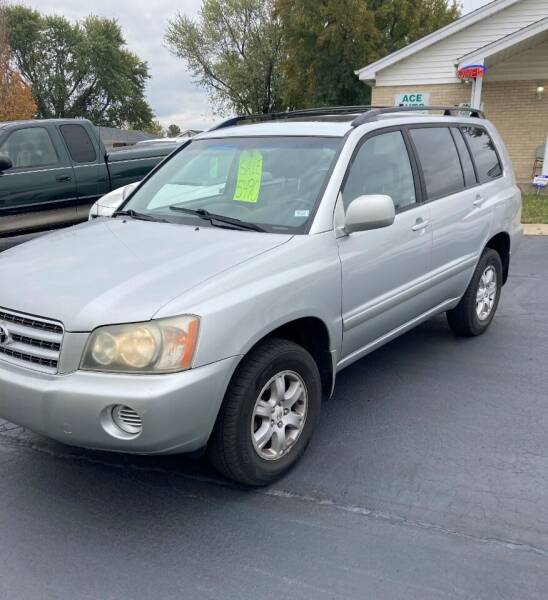 2002 Toyota Highlander for sale at Ace Motors in Saint Charles MO