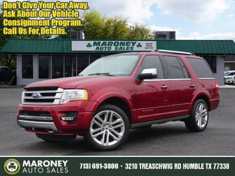 2016 Ford Expedition for sale at Maroney Auto Sales in Humble TX