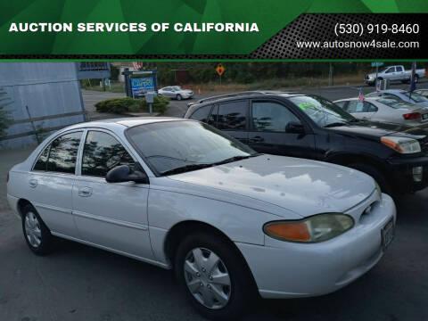 2002 Ford Escort for sale at AUCTION SERVICES OF CALIFORNIA in El Dorado CA