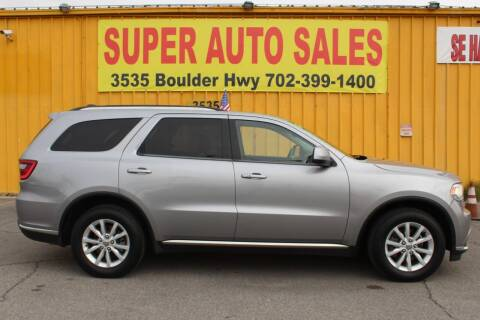 2014 Dodge Durango for sale at Super Auto Sales in Las Vegas NV