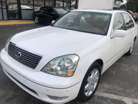 2001 Lexus LS 430 for sale at WHEEL UNIK AUTOMOTIVE & ACCESSORIES INC in Orlando FL