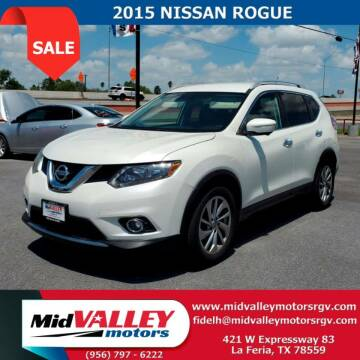2015 Nissan Rogue for sale at Mid Valley Motors in La Feria TX