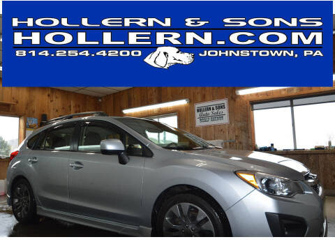 2014 Subaru Impreza for sale at Hollern & Sons Auto Sales in Johnstown PA