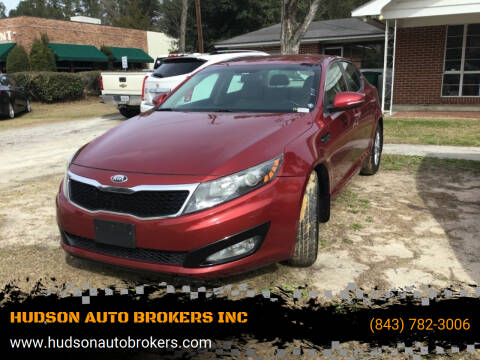2013 Kia Optima for sale at HUDSON AUTO BROKERS INC in Walterboro SC
