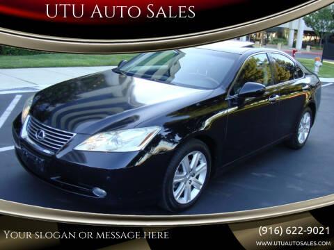 2009 Lexus ES 350 for sale at UTU Auto Sales in Sacramento CA
