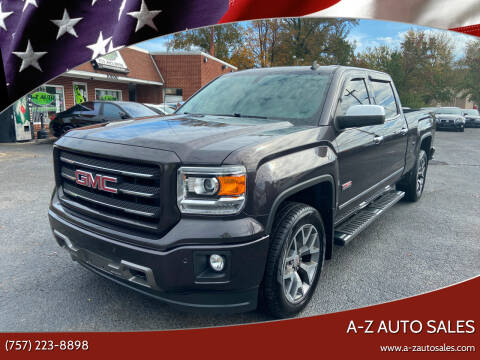 2014 GMC Sierra 1500 for sale at A-Z Auto Sales in Newport News VA