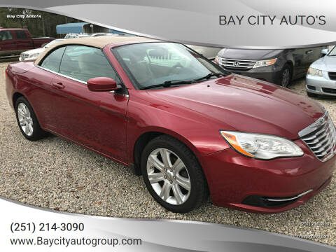 2012 Chrysler 200 Convertible for sale at Bay City Auto's in Mobile AL