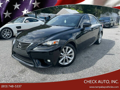 2015 Lexus IS 250 for sale at CHECK AUTO, INC. in Tampa FL