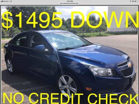 2012 Chevrolet Cruze for sale at Cooks Motors in Westampton NJ