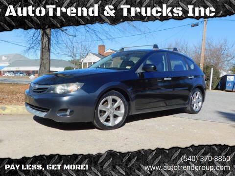 2010 Subaru Impreza for sale at AutoTrend & Trucks Inc in Fredericksburg VA