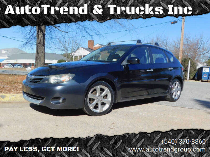 2010 Subaru Impreza for sale at AutoTrend & Trucks Inc in Fredericksburg VA