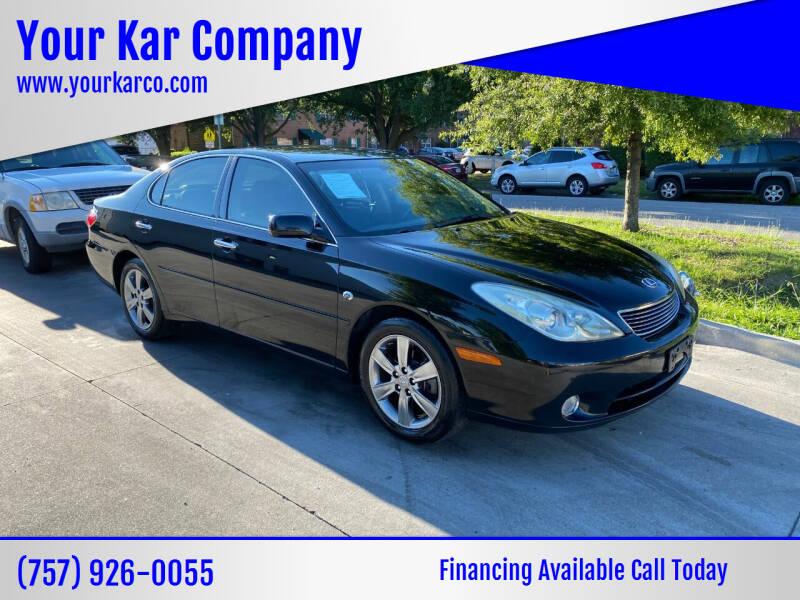 2006 Lexus ES 330 for sale at Your Kar Company in Norfolk VA