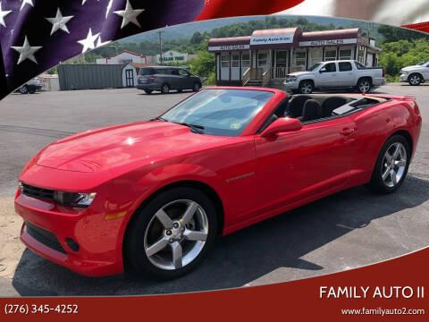 2015 Chevrolet Camaro for sale at FAMILY AUTO II in Pounding Mill VA