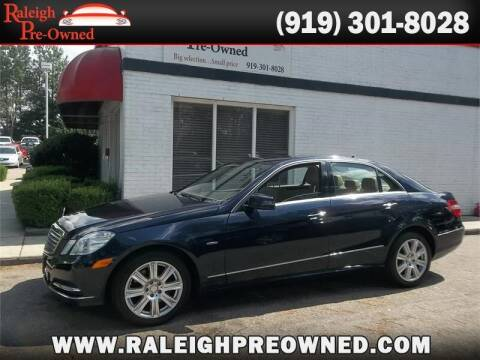 2012 Mercedes-Benz E-Class for sale at Raleigh Pre-Owned in Raleigh NC